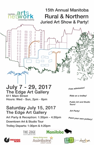 Poster for 15th annual Manitoba Rural & Northern Juried Art Show